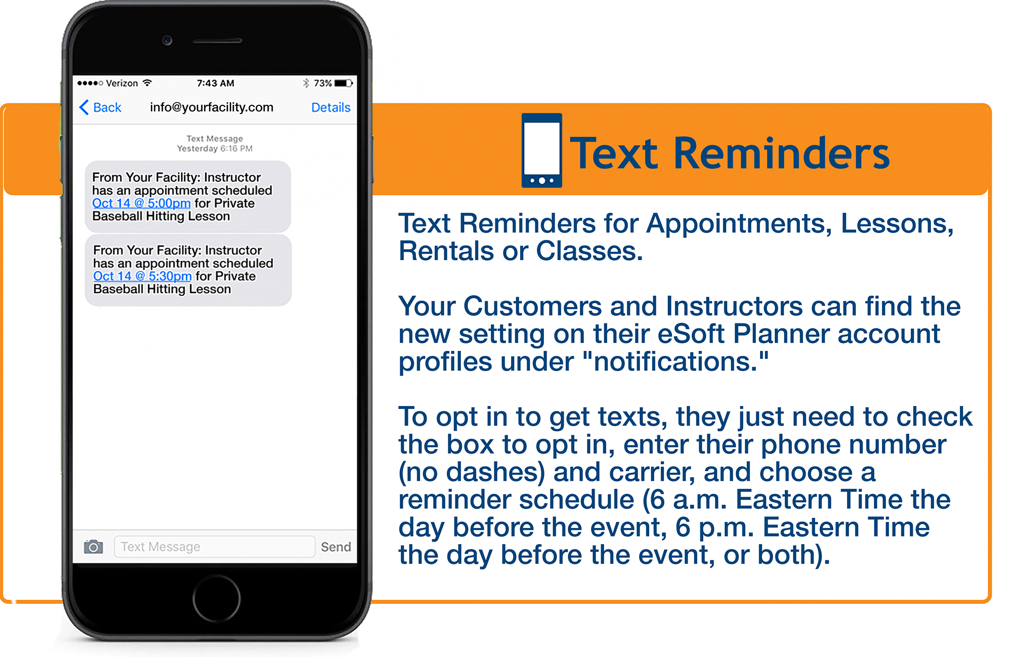 Wellness Business Text Reminder Software