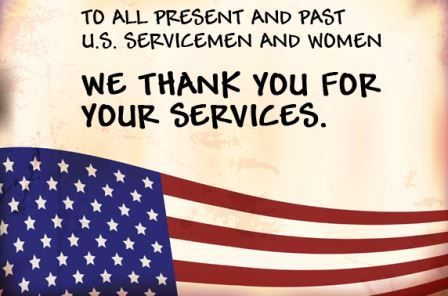 Thank You To Our Service Men and Women
